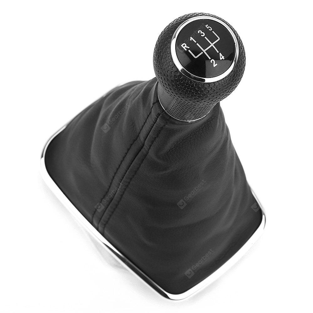 Automobile Five Speed Leather Shift Knob Shifter Boot