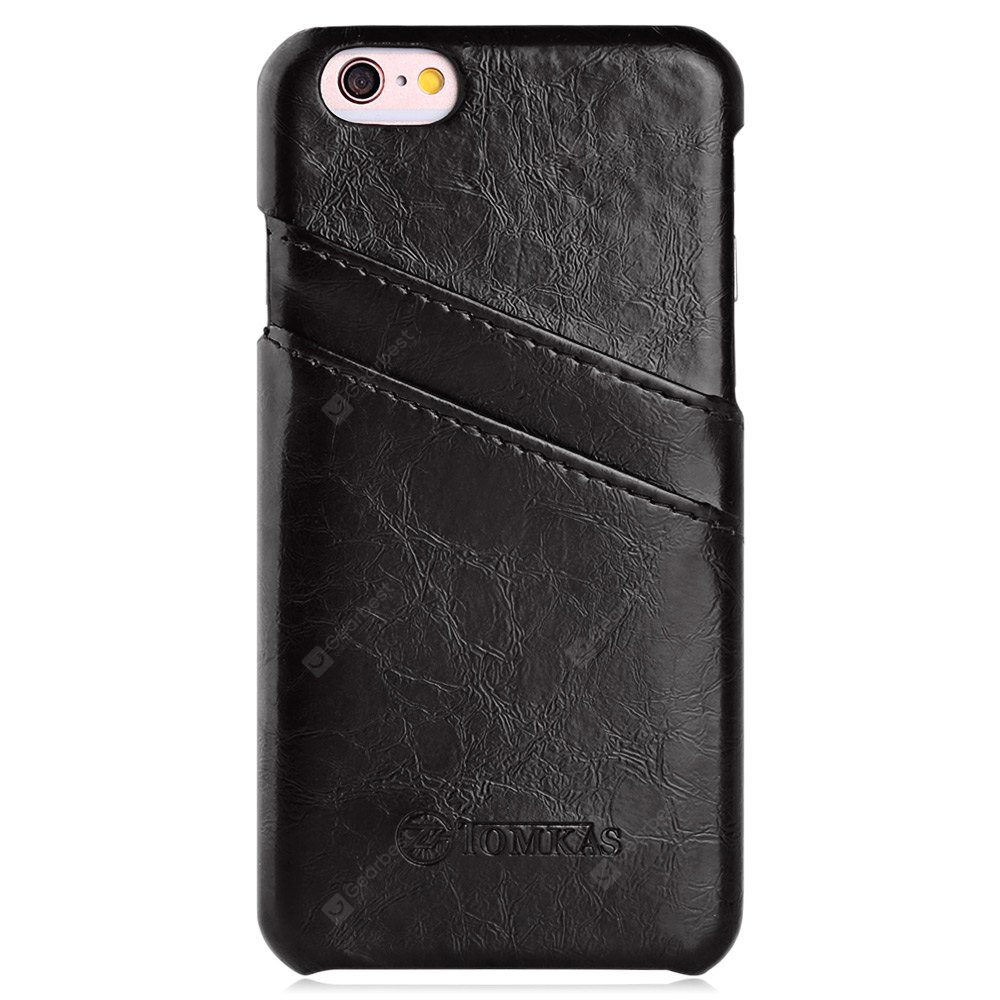 TOMKAS Oil Wax Leather Case for iPhone 6 / 6S