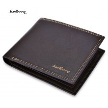 Baellerry Soft Double Threads Open Money Photo Card Wallet