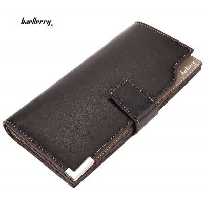 Baellerry Soft Snap Fastener Photo Money Card Clutch Wallet