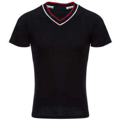 Casual Modal V Neck Men Short Sleeve Shirt