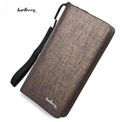 Baellerry Dull Polish Zipper Long Vertical Clutch Portable Wallet