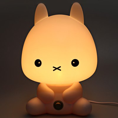Cartoon Rabbit Design Warm Light Energy Saving Desk Lamp