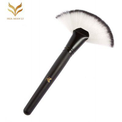 Huamianli Sector Black Makeup Foundation Blush Brush