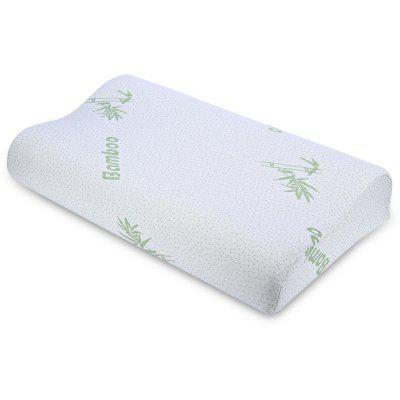Buy WHITE Bamboo Fiber Slow Rebound Memory Foam Pillow for $15.62 in GearBest store