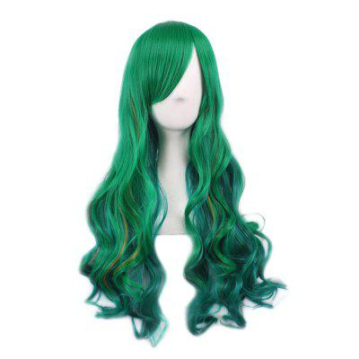Lady Harajuku Ombre Gradient Multicolor Wavy Long Full Wigs