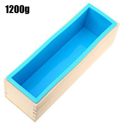1200g Silicone Soap Mold Wooden Box
