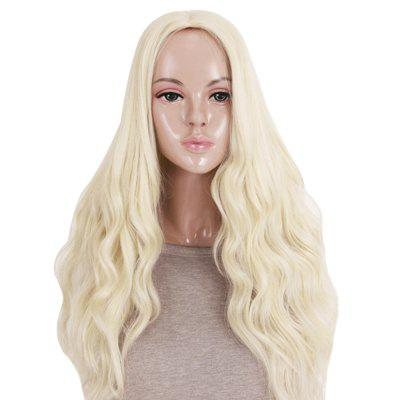 Fashion Sexy Women Long Curly Wavy Light Off-white Full Wigs