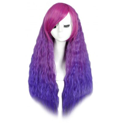 Charming Fluffy Long Loose Wavy Corn Curly Shaggy Perm Wigs