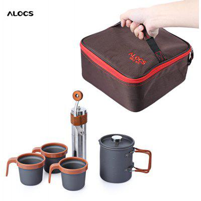 Gearbest ALOCS - Outdoor Travel French Press Set Mühle Topf Bereiter für 49,35€