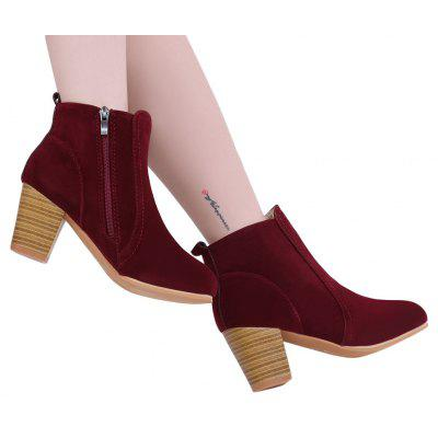 Side Zipper Pure Color Scrub Martin BootsWomens Boots<br>Side Zipper Pure Color Scrub Martin Boots<br><br>Boot Height: Ankle<br>Boot Type: Fashion Boots<br>Closure Type: Zip<br>Gender: For Women<br>Heel Height: 6.5cm<br>Heel Type: Chunky Heel<br>Package Contents: 1 x Pair of Women Boots<br>Pattern Type: Solid<br>Season: Winter, Spring/Fall<br>Toe Shape: Round Toe<br>Upper Material: PU<br>Weight: 0.5810kg