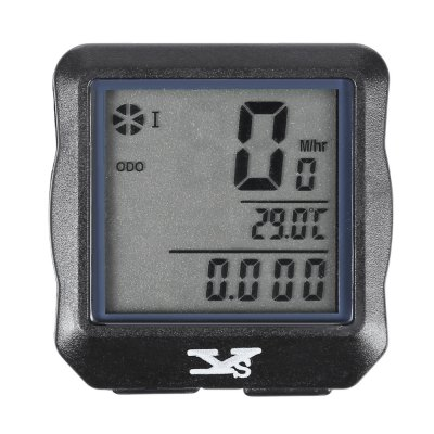 YS618 Luminous Wireless Odometer Stopwatch Speedometer