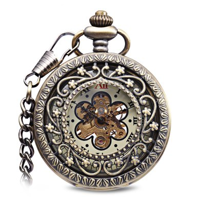 Mechanical Hand Wind Pocket Watch