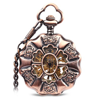 Unisex Mechanical Hand Wind Pocket Watch