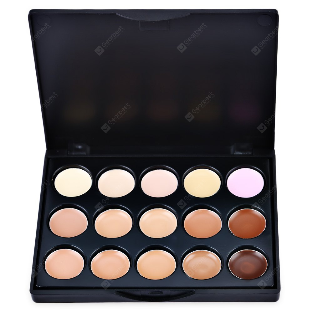 Mini 15 Colors Contour Face Cream Concealer Palette