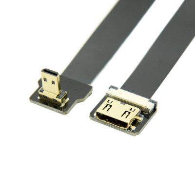 Micro Male to Mini HDMI Female FPC Flat Cable