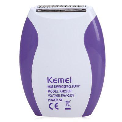 Kemei KM - 280R Mini Rechargeable Hair Remover Shaver kemei km 604b portable dry dual use electric shaver barber fader hair care