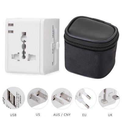 HHT148 Dual USB Port Charging Travel Adapter Storage Bag