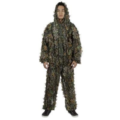 3D Leafy Camouflage Jungle Hunting Bionic Suit Set