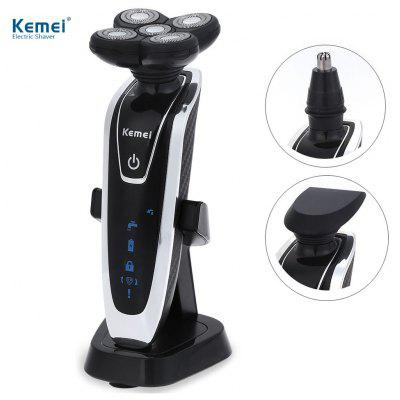 Kemei KM - 5886 5D Floating Heads Washable Electric Shaver