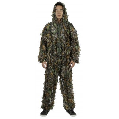Buy DIGITAL JUNGLE CAMOUFLAGE 3D Leafy Camouflage Jungle Hunting Bionic Suit Set for $26.45 in GearBest store