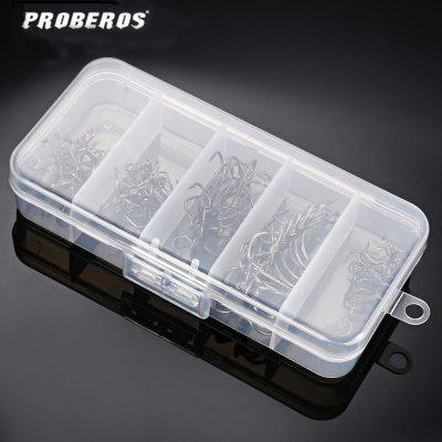 Proberos 50pcs / Set Carbon Steel Fishhook