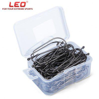 LEO 27570 100pcs / Lot High Carbon Steel Fishing Hook