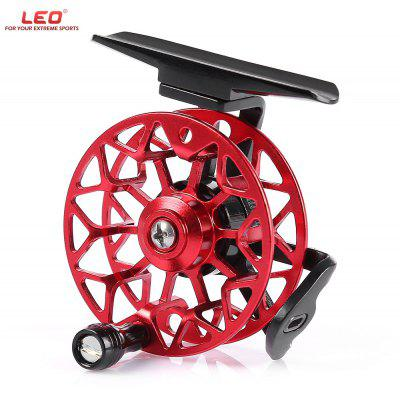 Buy LEO HF50 Right Hand Full Metal Fly Fishing Reel RED WITH BLACK for $14.23 in GearBest store