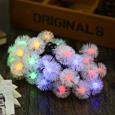 7M 50 LEDs Solar Powered Chuzzle Shaped String Light
