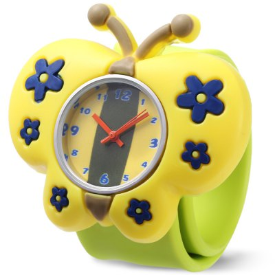 Children Quartz Watch Butterfly Case Wristwatch