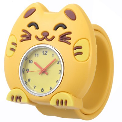 Children Quartz Watch Cat Case Wristwatch