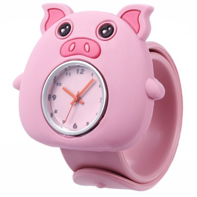 Children Quartz Watch Pig Case Wristwatch