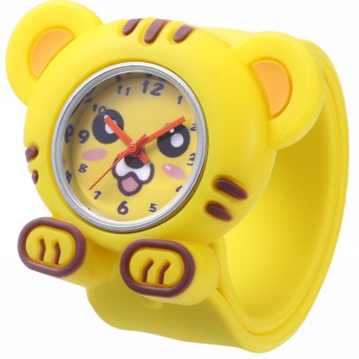 Children Quartz Watch Tiger Case Wristwatch
