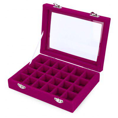 24 Grid High Grade Jewelry Pearl Villus Storage Box