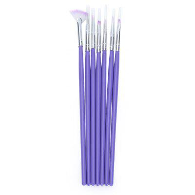 7pcs Purple Nail Design Brush Manicure for Painting Tool