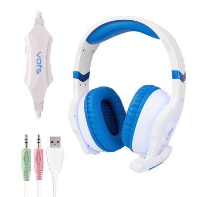 Vots Headset 3pcs 3.5MM USB Plug Gaming USB Headphones