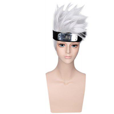 Handsome Boy Silver Grey Short Cosplay Wigs