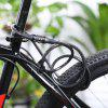 Anti-theft 4 Digit Password Mountain Road Bike Cable Lock - BLACK