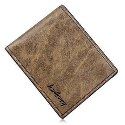 Men Solid Color Letter Open Horizontal Wallet