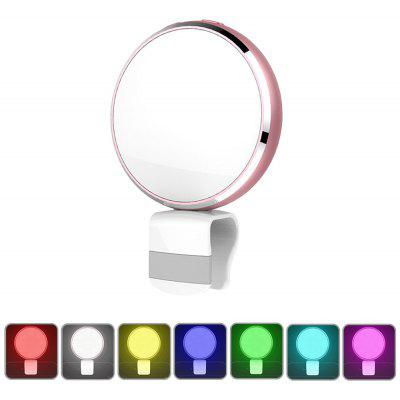 BR34 Seven Colors Selfie Flash Light with Mirror