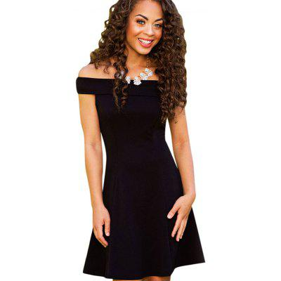 Buy BLACK Sexy Off The Shoulder A-line Women Mini Dress for $7.49 in GearBest store