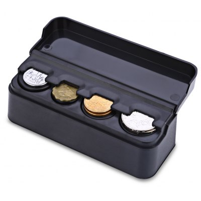 Car Coin Case Pocket Storage Plastic Material Box