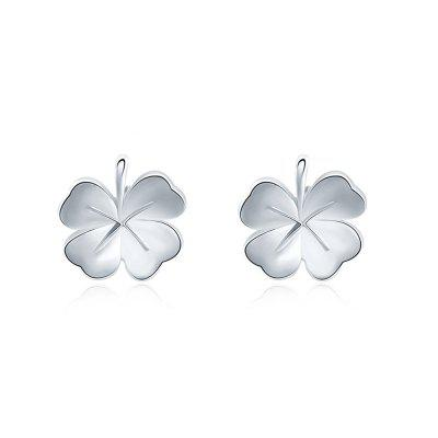 Plant Leaf Handmade Platinum Plated Party Earrings