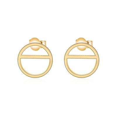 Geometric Shape Gold Plated Copper Party Birthday Stud Earrings