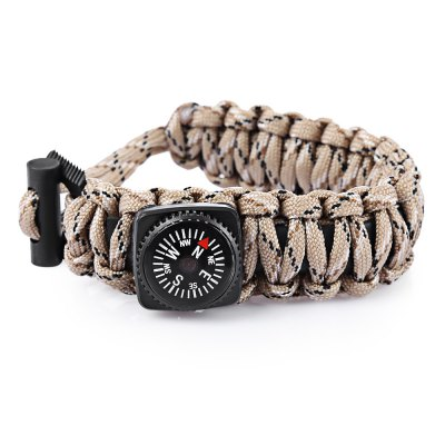 Outdoor Multifunction Survival Compass Bracelet Kit