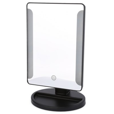 36 LED USB Power Folding Toilet Lighted Makeup Mirror