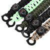 Outdoor Multifunction Survival Compass Bracelet Kit - BLACKISH GREEN