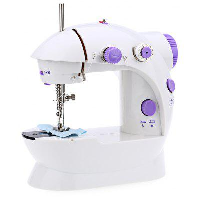 Buy WHITE Mini Double Speed Automatic Thread Sewing Machine with Light for $29.08 in GearBest store