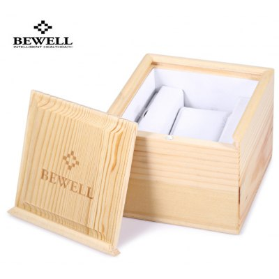 BEWELL Pine Wooden Watch Box