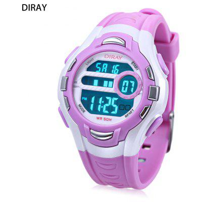 DIRAY DR - 202 Kinder Digitaluhr LED Alarm Chronograph Kalender 5ATM PU Band Armbanduhr